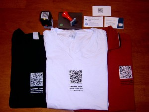 QR Code on merchandise